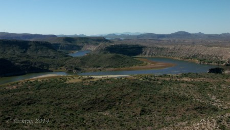 Serpentine Agua Fria River looking south toward Lake Pleasant