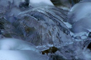 Ice umbrella in Little Cottonwood Canyon stream