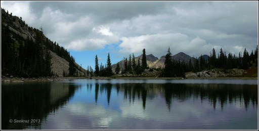 Red Pine Lake reflections in Little Cottonwood Canyon