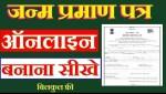 [PDF ] राजस्थान जन्म प्रमाण पत्र फॉर्म 2021   Birth Certificate Form PDF Rajasthan Download