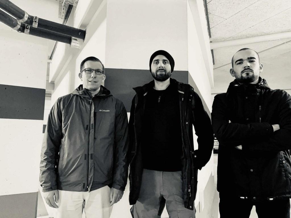Kay, Florian und Anselm in Halle