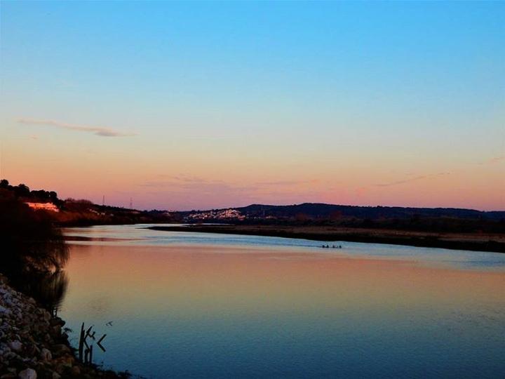 Fluss Tejo Portugal Sonnenuntergang