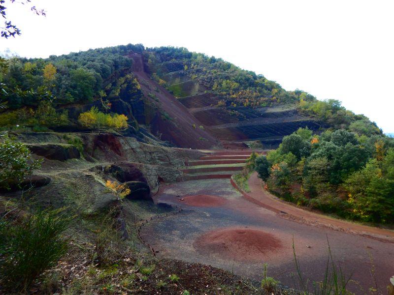 Blick auf den Vulkan Garrotxa Spanien
