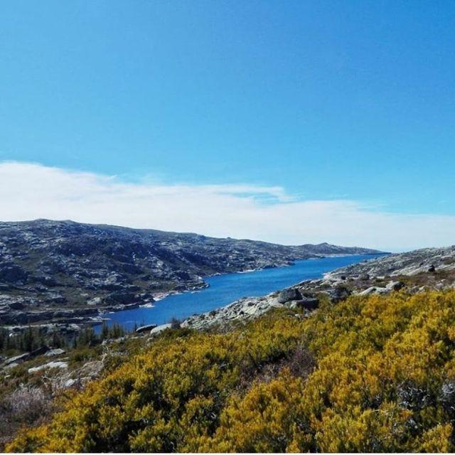 Lagoa Comprida Portugal stausee fernsicht