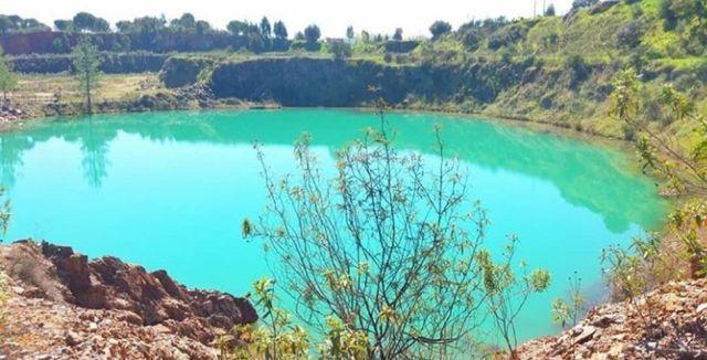 blauer see pyritmine lousal Portugal