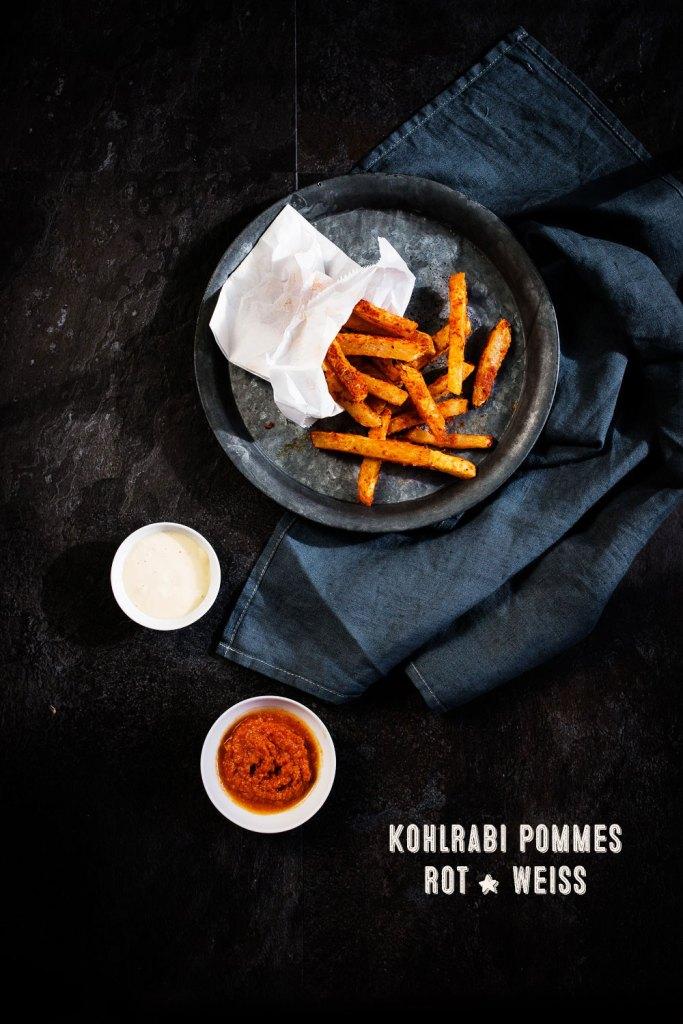 Kohlrabi Pommes, Miso Mayonnaise, Romesco Sauce | seelenschmeichelei.de
