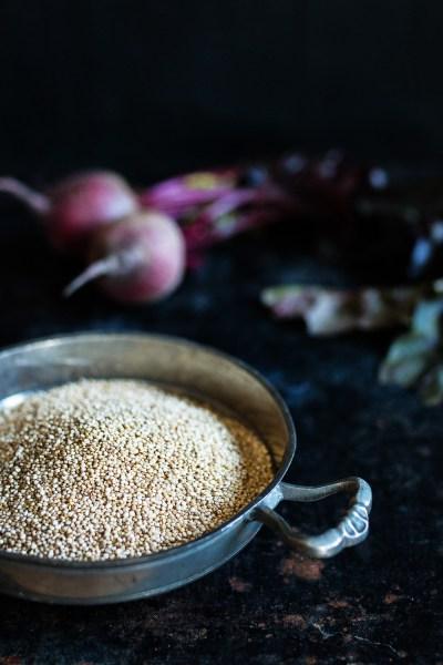Quinoa Bällchen   rote Bete Hummus   karamellisierter Apfel   seelenschmeichelei.de