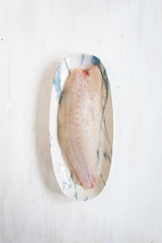 Sashimi vom Loup de Mer   Kaffir Limetten Sorbet   Koriander Sesam Pesto  seelenschmeichelei.de