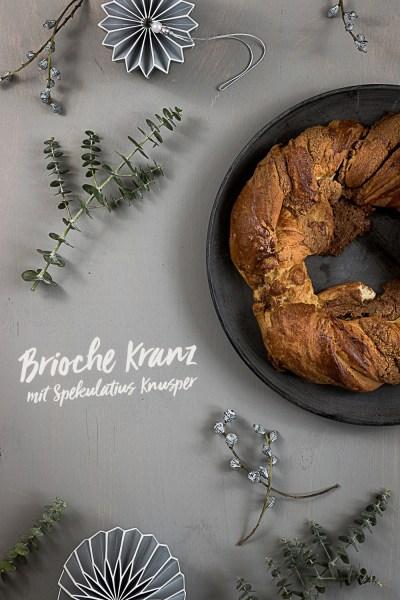 Brioche Kranz mit Spekulatius Füllung | seelenschmeichelei.de