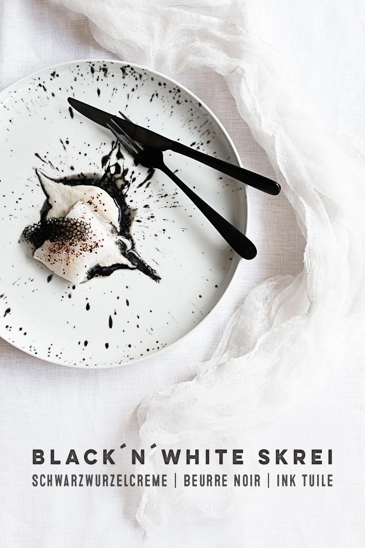 Skrei | Schwarzwurzeln | Beurre Noir | Sepia Tuile |seelenschmeichelei.de