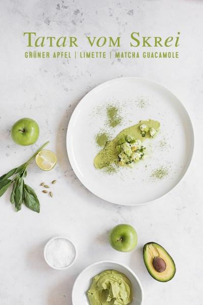 Skrei Limetten Tatar   Grüner Apfel   Matcha Guacamole   seelenschmeichelei.de