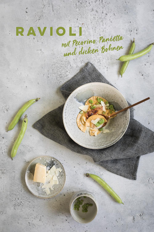 Ravioli mit Käsefüllung, Bohnen und Speck | seelenschmeichelei.de