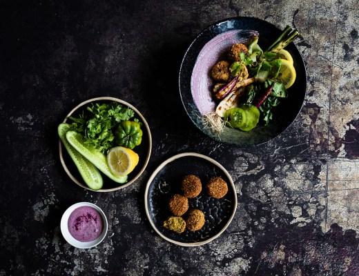 Falafel Bowl | Purple Tahini Sauce | geröstetes Gemüse | seelenschmeichelei.de