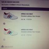 Geld ausgeben II. Wenn der Laden vor Ort die Schuhe nicht mehr hat, dann eben per Internet! #selbstistdiefrau #sneaker #adidas #hopefullysoonmine #PmdD16 #pmdd #wirtschaftankurbeln