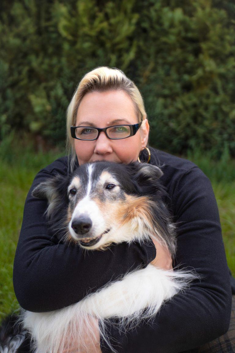 Andrea Küll - Mit ihrem Hund Assira
