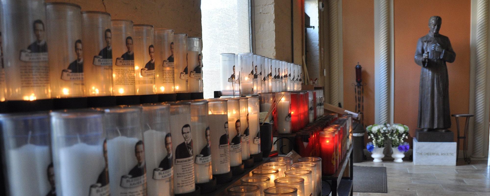 Seelos Shrine votive candles
