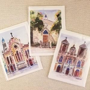 Watercolor single notecard