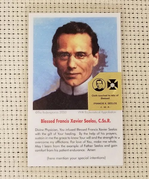 """""""Divine Physician"""" Laminated Relic Prayer Card"""