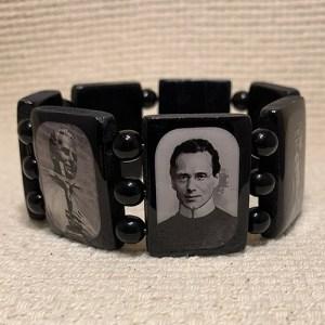 Large Black Wood Bracelet