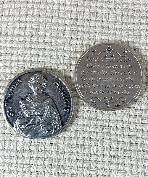 St. Thomas Aquinas prayer token