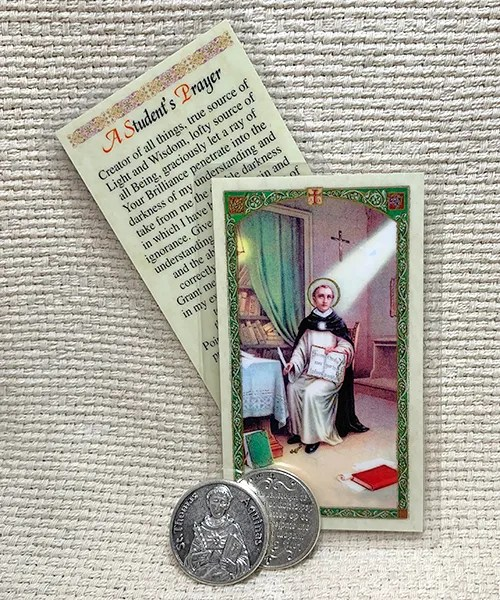 St. Thomas Aquinas card and token set