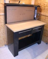 Sears Craftsman Workbench with Hutch 2 Drawer New $290