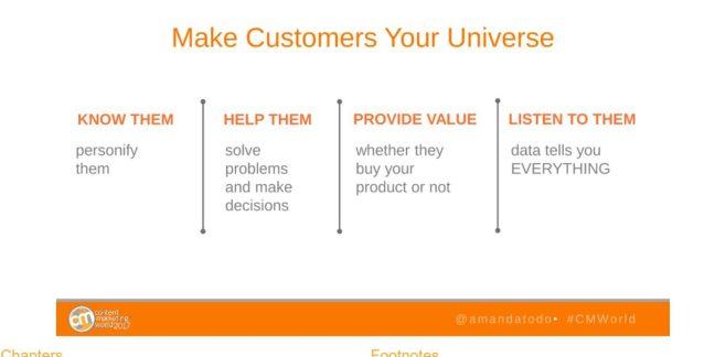 Make Customers Your Universe by Amanda Todorovich