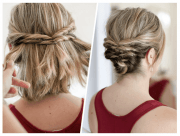 easy hairstyles short medium