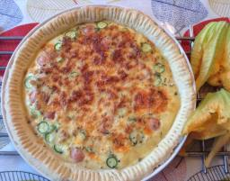 Quiche with courgette from the garden