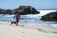 Pula and I at beach Bodega Bay