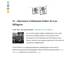 Maptia Festivals & Celebrations. Theme #20 Barranco (me)