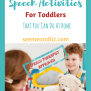 Straightforward Speech Therapy Activities For Toddlers You