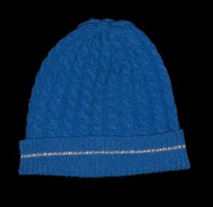 Malena Blue Cashmere Reflective Hat