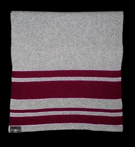 Sophie Large Burgundy Reflective Cashmere Scarf