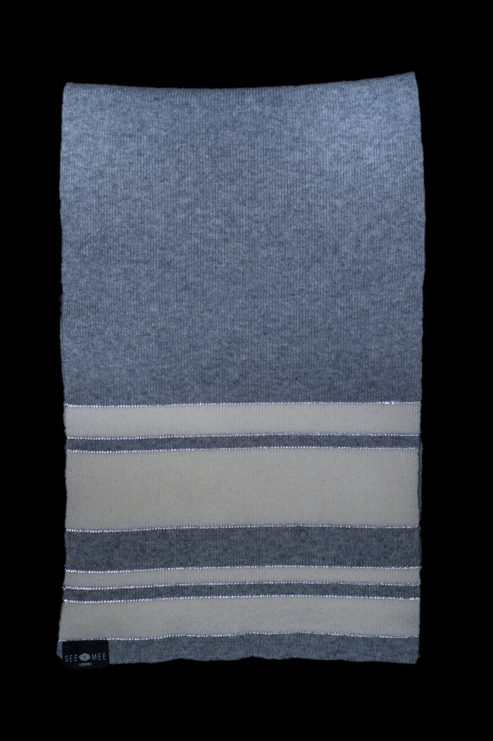 Sophie Small Grey Reflective Cashmere Scarf