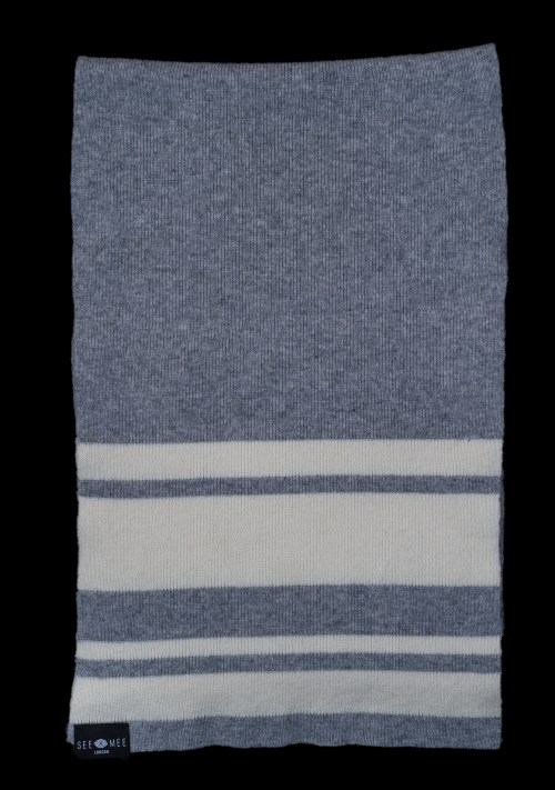Sophie Small Grey Cashmere Scarf
