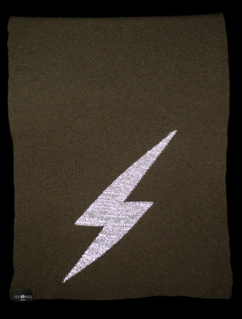 Thor Large Green Reflective Cashmere Scarf