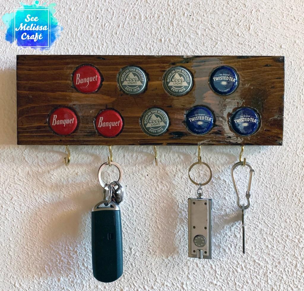 Red, white, & blue DIY keychain hanger