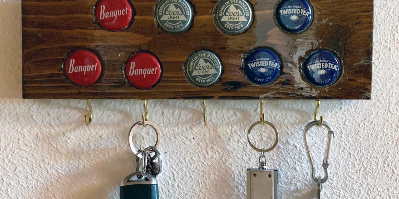 DIY Keychain Hanger with Bottle Caps
