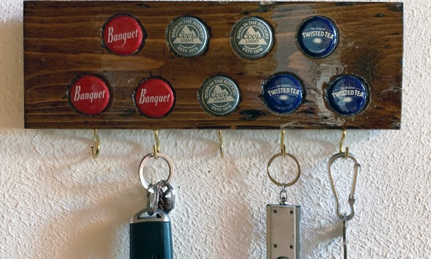 DIY Keychain Hanger with Bottle Caps