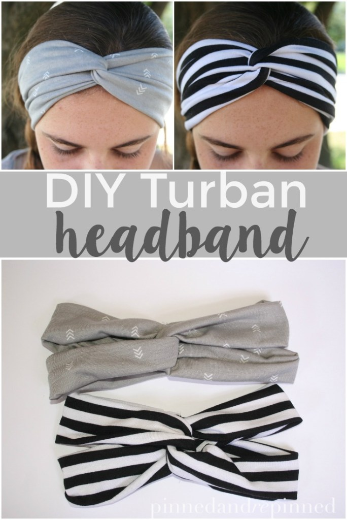 DIY Turban Headband from pinned and repinned.