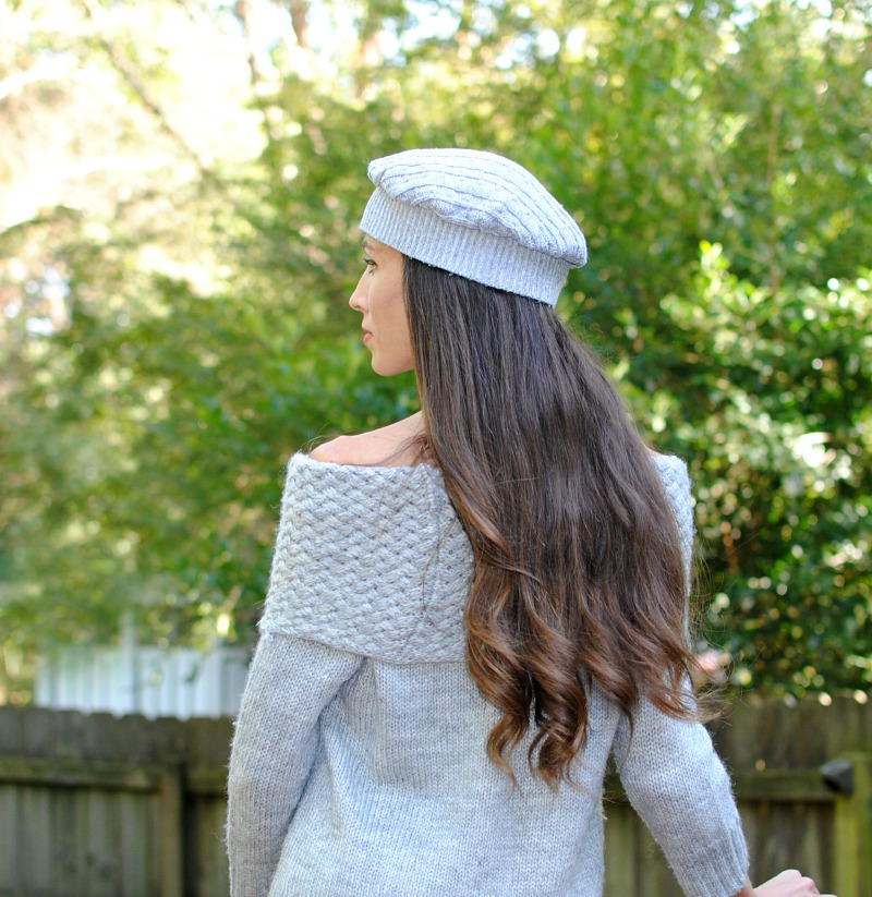 DIY Sweater Beret from Trash to Couture