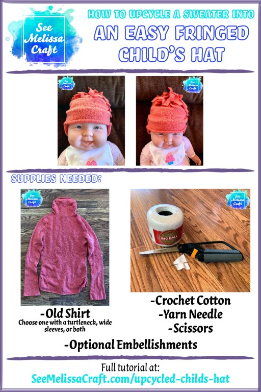 Learn how to upcycle a sweater into a hat