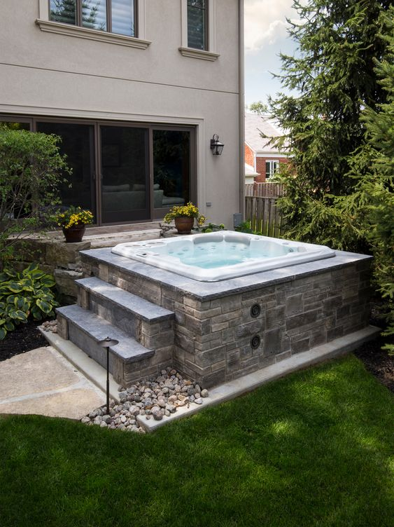 Attractive Backyard Hot Tub Ideas To Beautify Your Backyard Seemhome