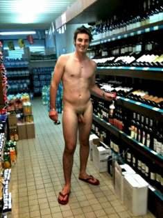 men totally naked at supermarket flashing around gay pics and videos