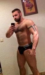 Bearded and muscular gay boyfriend