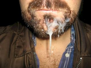 Bearded dude gets facefucked and fed cum