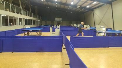 Die Tischtennishalle in Nelson