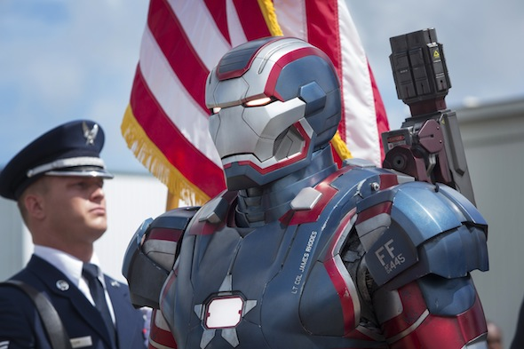 """Marvel's Iron Man 3""..Iron Patriot..Ph: Zade Rosenthal..© 2012 MVLFFLLC. TM & © 2012 Marvel. All Rights Reserved."