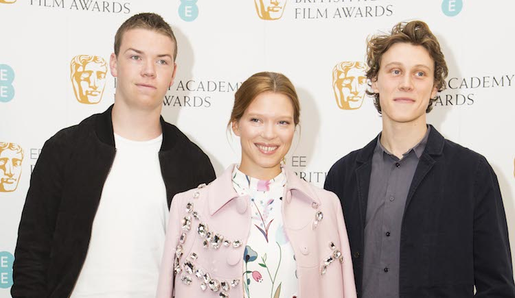EE Rising Star Award nominees - Will Poulter, Lea Seydoux, George MacKay.